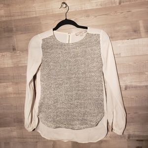 Loft petite top with knot front detailing